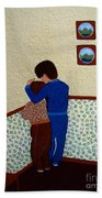 Sharing The Punishment Beach Towel by Barbara Griffin
