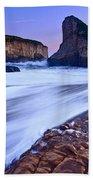 Shark Fin Tide - Santa Cruz California Beach Towel by Jamie Pham