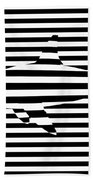 Shark Optical Illusion Beach Towel by Pixel Chimp