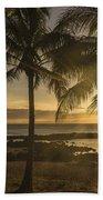 Sharks Cove Sunset 2 - Oahu Hawaii Beach Towel