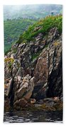 Sharp Jagged Rocks  Beach Towel