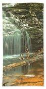 Shawnee Falls At Ricketts Glen Beach Sheet