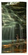 Shawnee Falls In The Spring Beach Towel