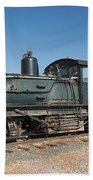Shay Engine 14 In The Colorado Railroad Museum Beach Towel