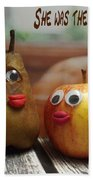 She Was The Apple Of His Eye Beach Towel