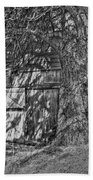 Shed Bw Beach Towel