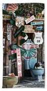 Shed Toilet Bowls And Plaques In Seligman Beach Towel by RicardMN Photography