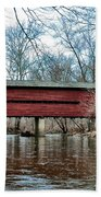 Sheeder - Hall - Covered Bridge Chester County Pa Beach Towel