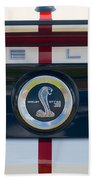 Shelby Cobra Tailgate Emblem Beach Towel