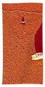 Shell And Sand Reddish Version Beach Towel