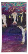 Sheltering Cows Beach Towel