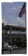 Shem Creek Bar And Grill Beach Towel