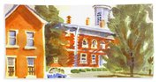 Sheriffs Residence With Courthouse Beach Towel