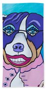 She's A Pit Bull That Wears Lipstick Beach Towel