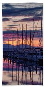 Shilshole Olympic Mountains Sunset Beach Towel