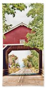Shimanek Covered Bridge Beach Towel