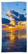 Shimmering Sundown Beach Towel