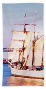 Ship Coming In Beach Towel