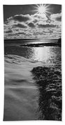 Ship Harbor Winter Beach Towel