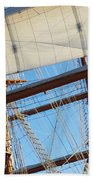 Ship Rigging Beach Towel