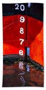 Ship Waterline Numbers Beach Towel