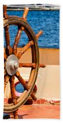 Ship Wheel Beach Towel