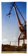 Shipping Industry Dock Beach Towel