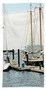 Ships In Newport Harbor Beach Towel