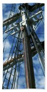 Ships Rigging Beach Towel