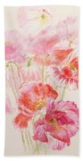 Shirley Poppies Beach Towel
