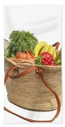 Shopping For Orrganic Fruit And Vegetables  Beach Towel