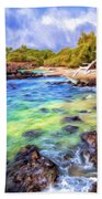Shoreline At Puako Beach Towel
