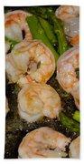 Shrimp And Asparagus Beach Towel