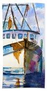 Shrimp Boat Isra Beach Towel