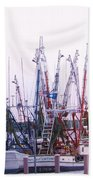 Shrimpers On The Shem Beach Towel