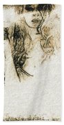 Shroud Of A Lady Beach Towel