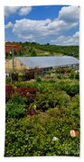 Shrubbery At A Greenhouse Beach Towel
