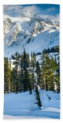 Shuksan Winter Paradise Beach Towel by Inge Johnsson