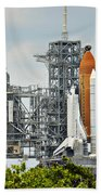 Shuttle Endeavour Is Prepared For Launch Beach Towel