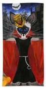 Siamese Queen Of Transylvania Beach Towel by Jamie Frier
