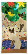 Siameses En Chaise Con Flores Limited Edition 2 Of 15 Beach Towel