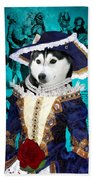 Siberian Husky Art Canvas Print - Baroness Beach Towel