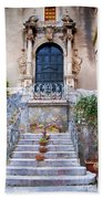 Sicilian Village Steps And Door Beach Towel