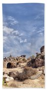 Side Ancient Archaeological Remains Beach Towel