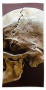 Side Profile View Of Human Skull   Beach Towel