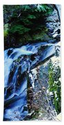 Side View Of Bumping Creek Falls Beach Towel