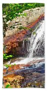 Side View Of Southeast Brook Falls In Gros Morne Np-nl Beach Towel