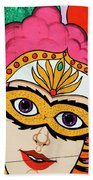 Carnival Mask Palm Springs Beach Towel