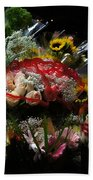 Sidewalk Flower Shop Beach Towel