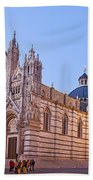 Siena Duomo At Sunset Beach Towel